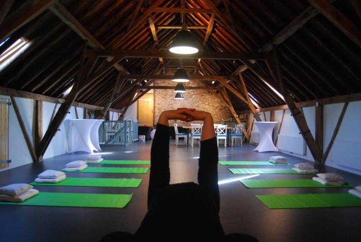 yoga zolder de Heerlijkheid in boerderij Groot Weede
